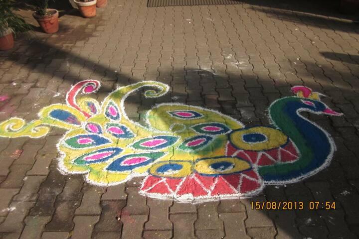 Tata DAV School-Rangoli Event