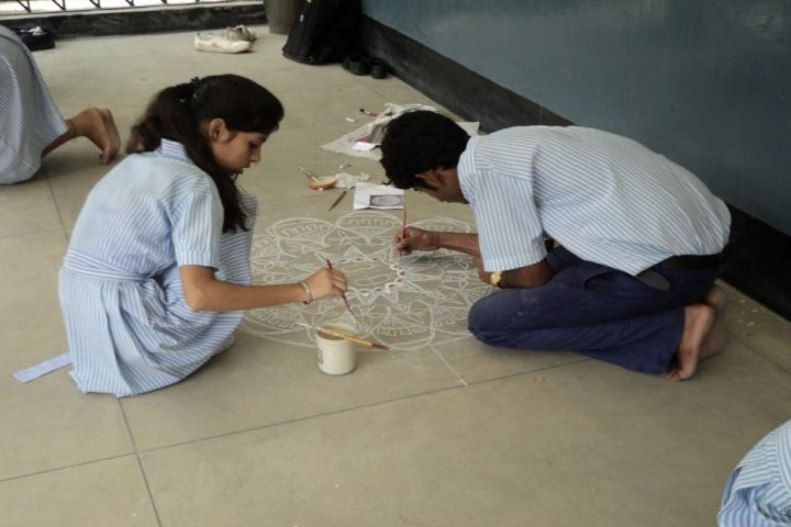 Valley View School-Rangoli