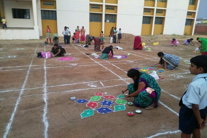 Adarsha Central School-Rangoli Competition