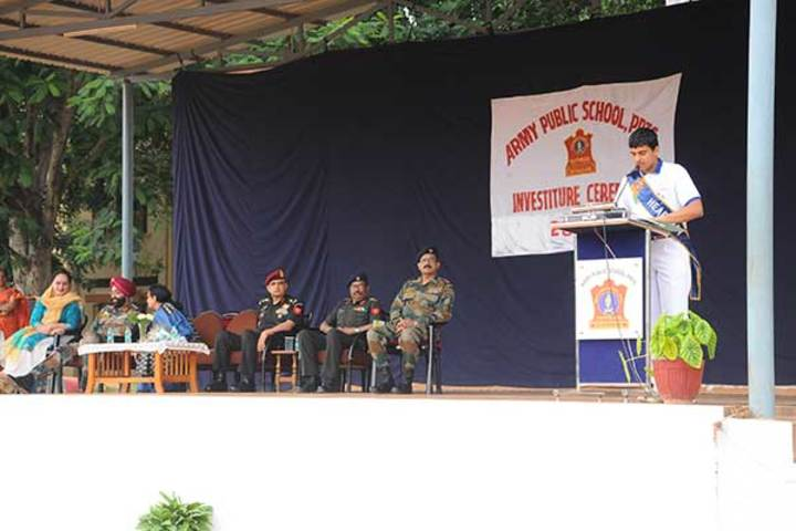 Army Public School-Investiture Cermony