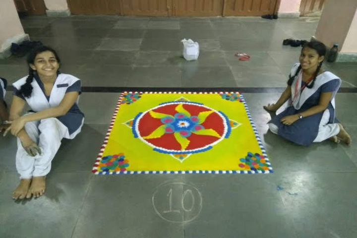 Atomic Energy Central School-Rangoli Competition