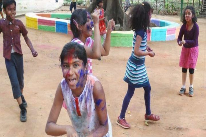 Auro Mirra International School-Holi Celebrations