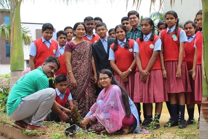 B B Hanji International School-Tree Plantation