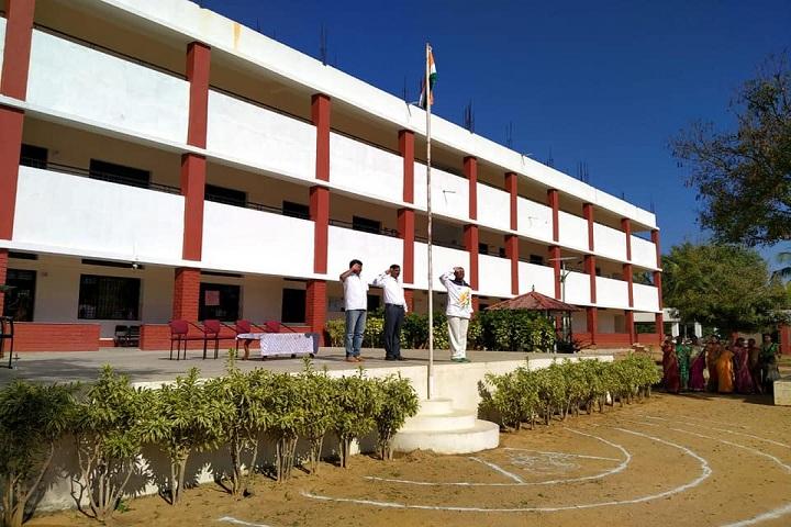C Muniswamy Public School-Flag Hosting