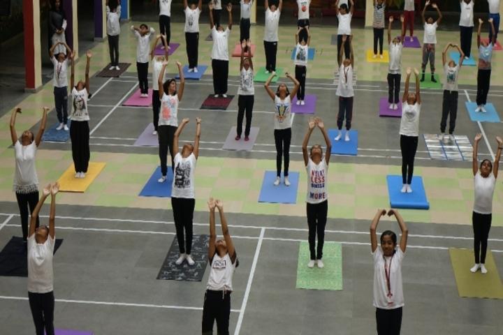 Christ Academy-Yoga Day Celebrations