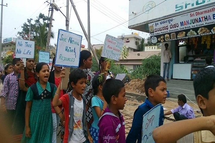 Edu Asia International School-Rally for save water