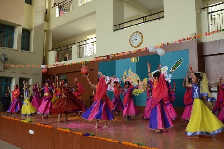 Delhi public school - holi celebrations