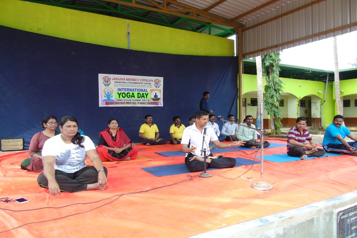 Jawahar Navodaya Vidyalaya-International Yoga Day