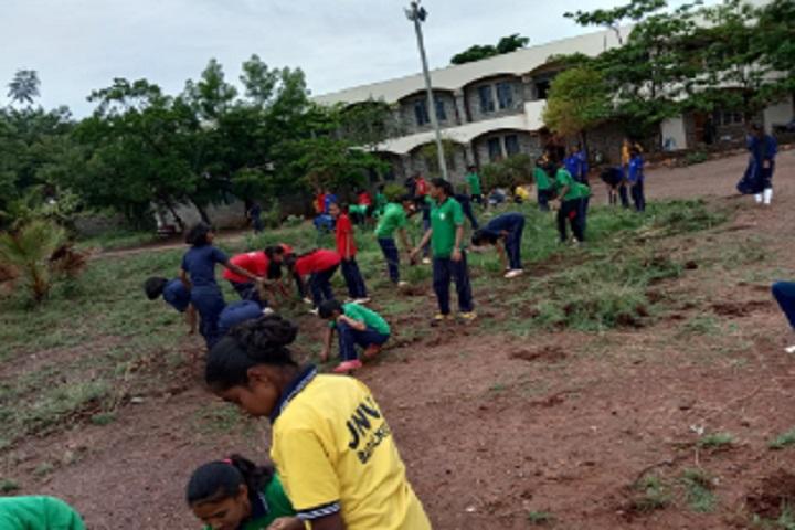 Jawahar Navodaya Vidyalaya-Cleaning Campus