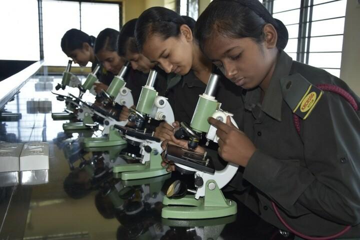 Kittur Rani Channamma Residential Sainik School For Girls-Biology lab