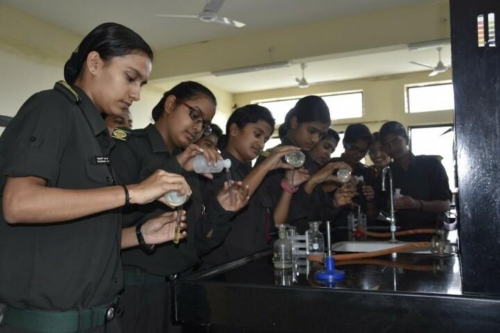 Kittur Rani Channamma Residential Sainik School For Girls-Chemistry lab