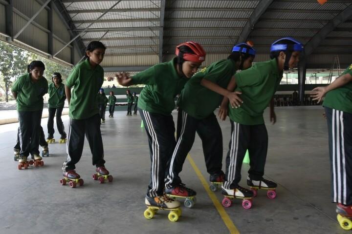 Kittur Rani Channamma Residential Sainik School For Girls-Skating