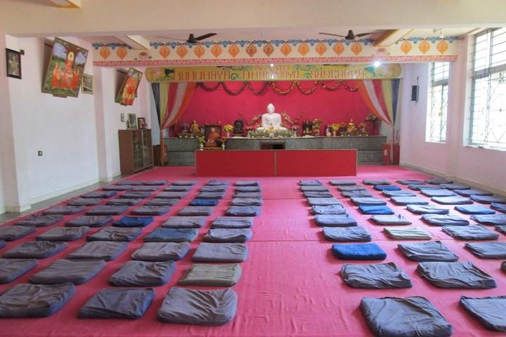 Mahabodhi School-Meditation hall