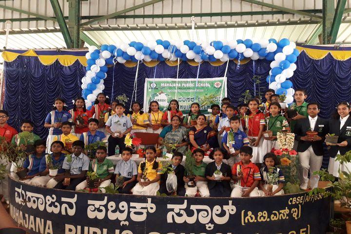 Mahajana Public School- Environment day