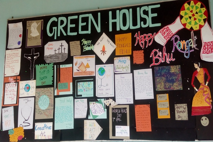 Green meadows school-House board