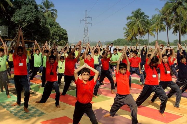 Maruthi Public School-Yoga Activity
