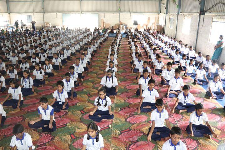 Maruthi Vidyalaya-Yoga Activity