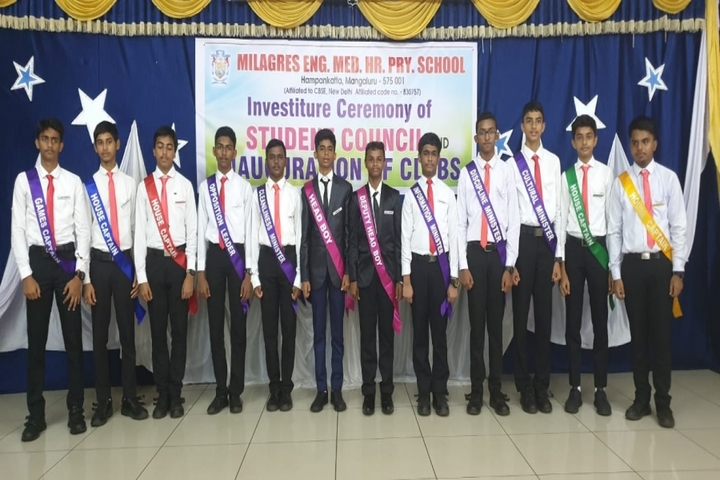 Milagres English Medium Higher Primary School-Investiture Ceremony
