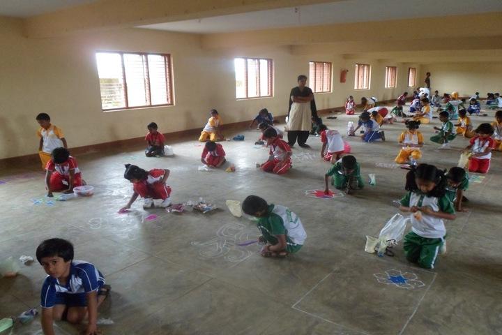 Mount Carmel School-Rangoli Event