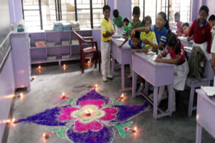 Gurukul Grammar School -Rangoli Activity