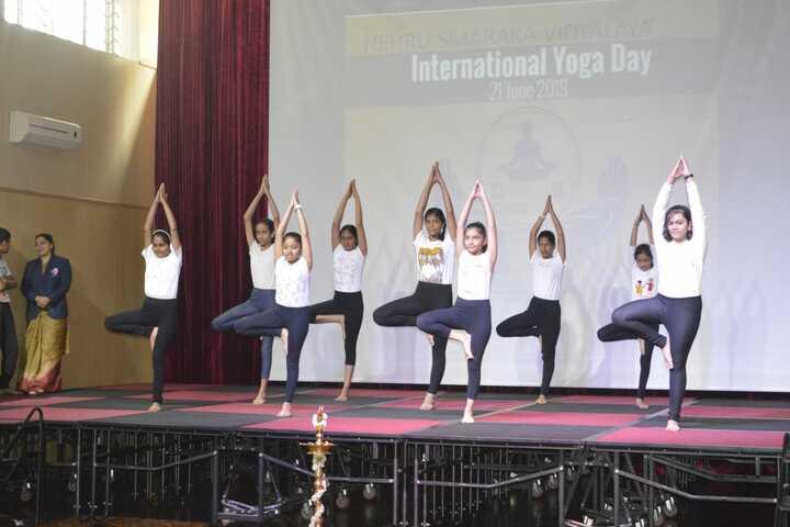 Nehru Smarka Vidyalaya-Yoga Day