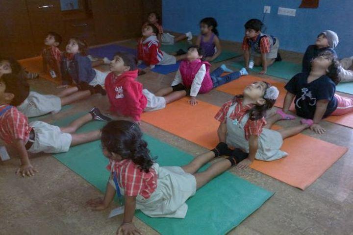 Oakridge International School-Yoga Activity