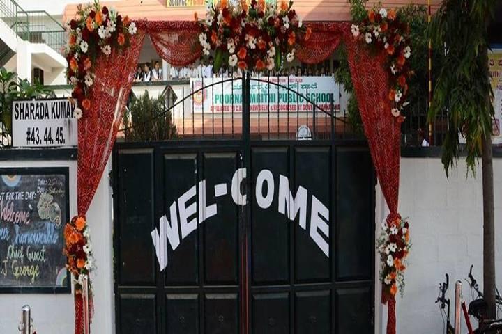 Poorna Smrithi Public School-School Gate