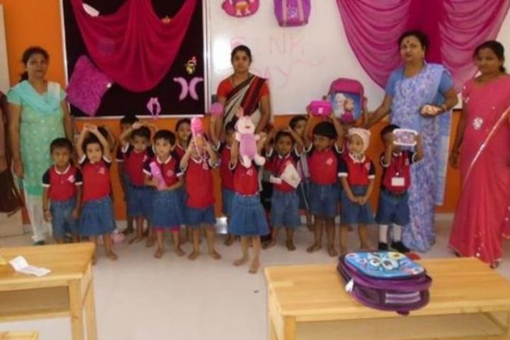 S R N Mehta School-Pink Day
