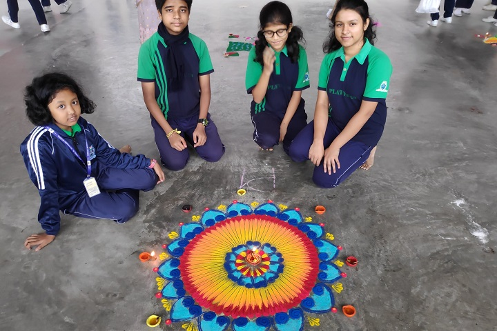 Holy Home Secondary School-Rangoli Competition