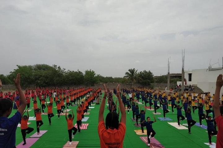Sanganabasava Shishuniketan School-International Yoga Day