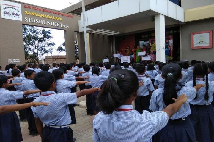 Sanganabasava Shishuniketan School-Assembly
