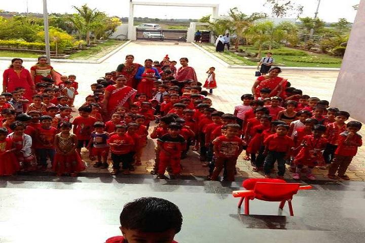 Sanganabasava Shishuniketan School-Pink Day