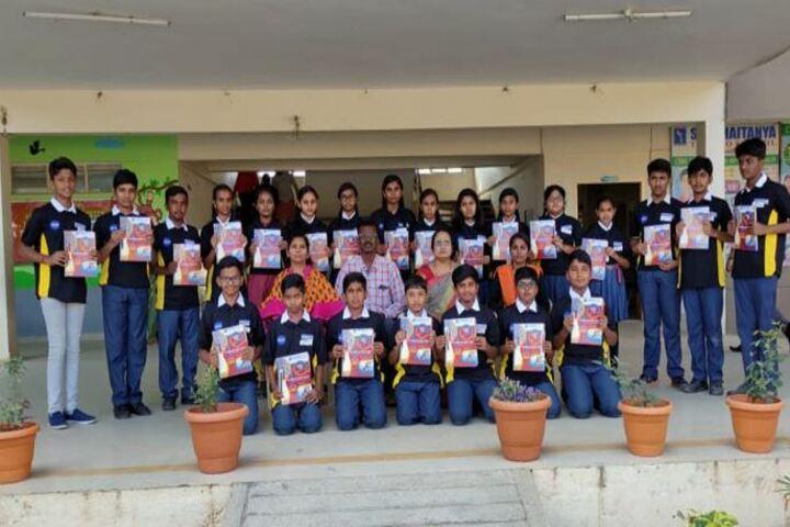 Sri Chaitanya Techno School-Nasa Kit Distribution