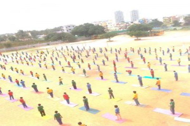 Sri Jnana Gangotri International School-Yoga Day