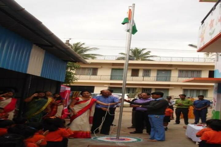 Vidya Soudha Public School-Flag Hosting