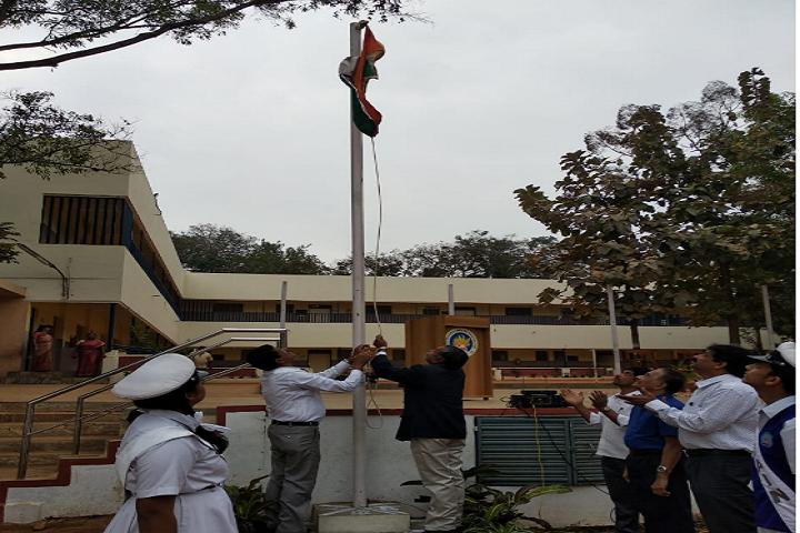 Vidyavardhaka Sangha B M Sri Educational Institutions-Flag Hoisting
