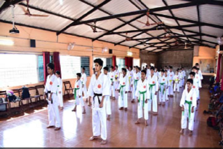 A J I Senior Secondary English School-Karate