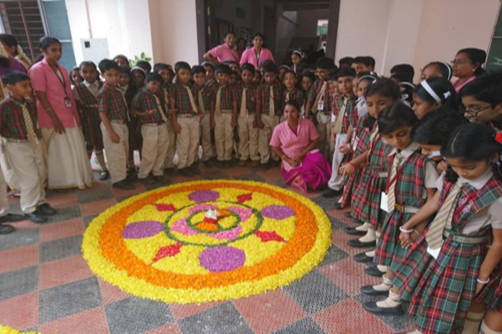 A G Public School-Rangoli