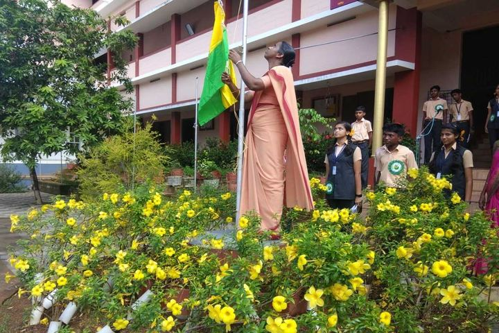 Alphonsa English Medium School-Flag Hoisting