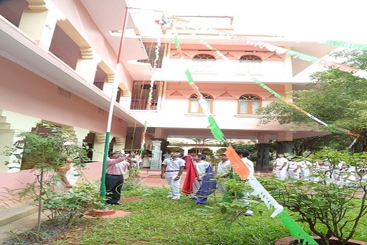 Amrita Vidyalayam-Flag-Hoisting
