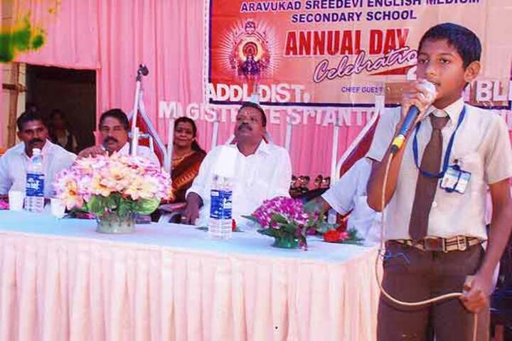Aravukad Sreedevi English Medium Secondary School-Speeches