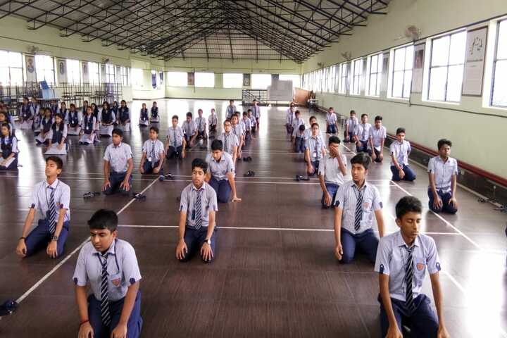 B M Memorial Central School-Yoga Day