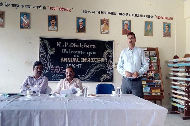 Kendriya Vidyalaya-Annual inspection day