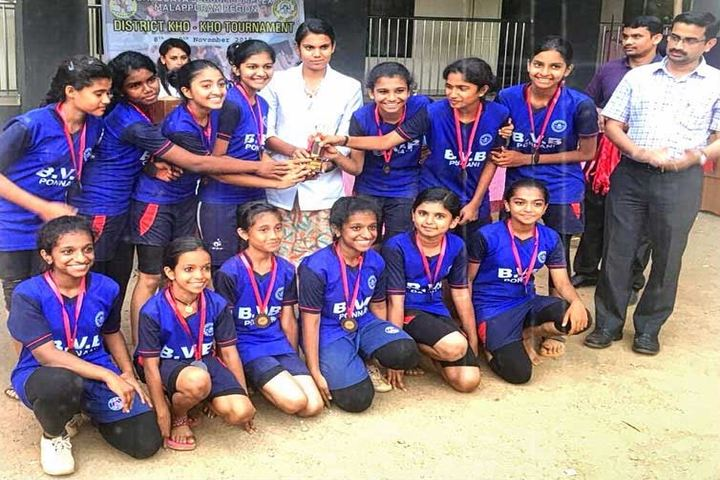 Bharathiya Vidya Bhavan Vikas Vidyalaya-Kho Kho District Level Winners