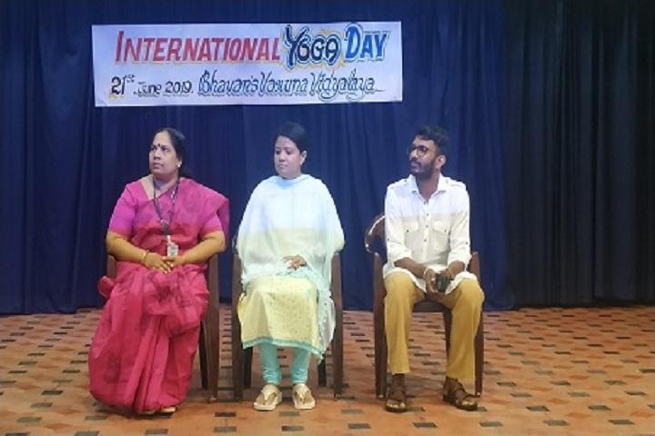 Bhavans Varuna Vidyalaya-Yoga Day