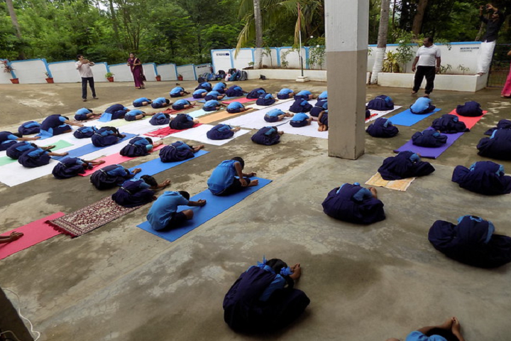 Bhavans Vidyalaya Ottapalam-Yoga Day
