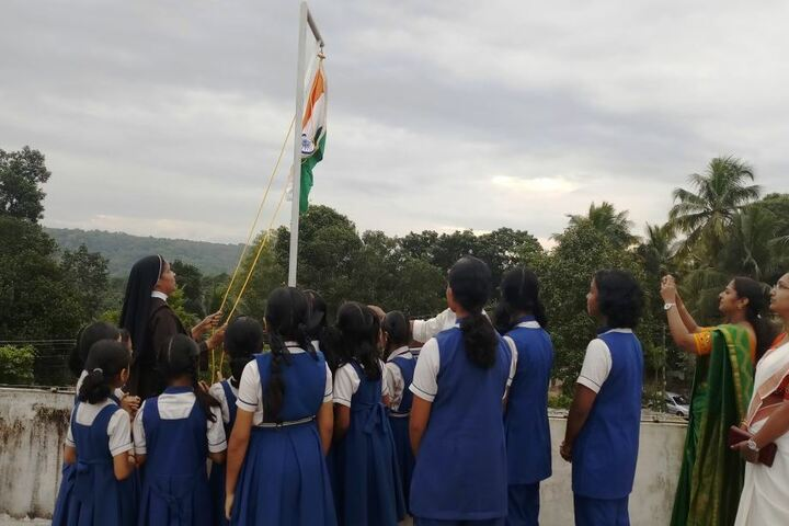 Carmel School-Flag Hoisting