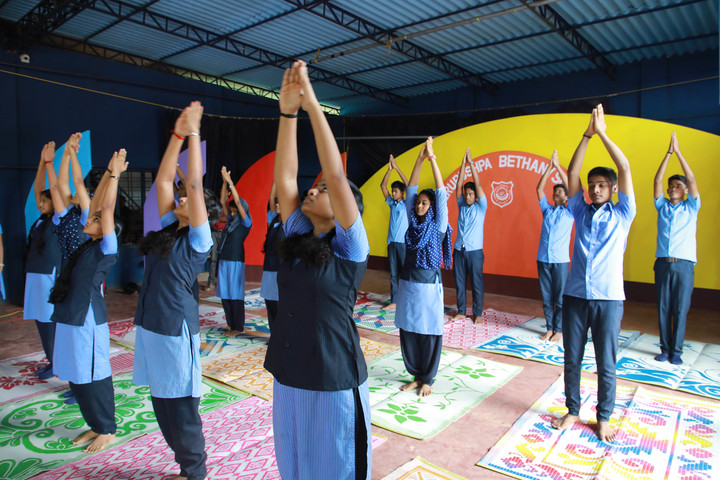 Cherupushpa Bethany School-Yoga Day