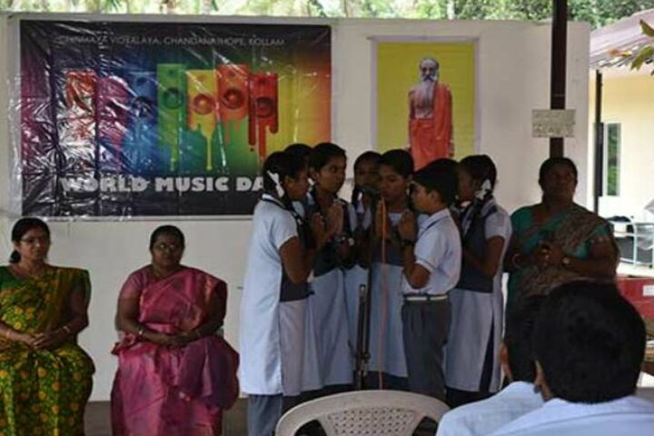 Chinmaya Vidyalaya-Music Day Celebrations