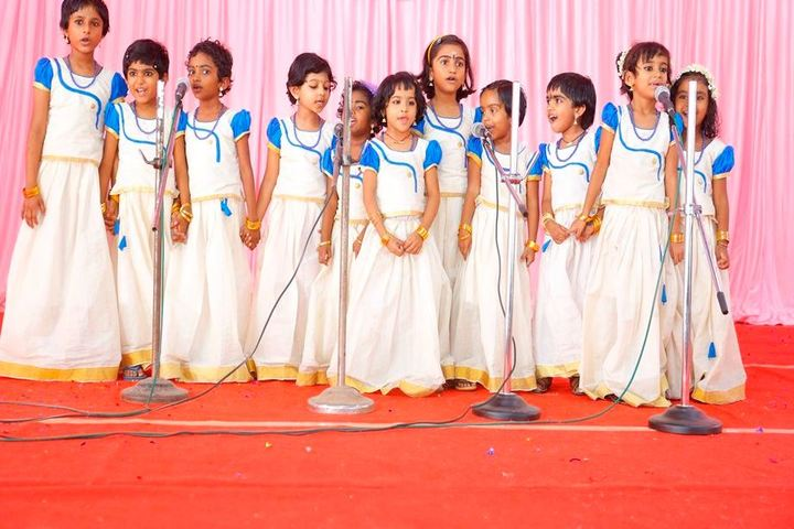 Chinmaya Vidyalaya-Singing Activity